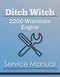 Ditch Witch 2200 Wisconsin Engine - Service Manual Cover