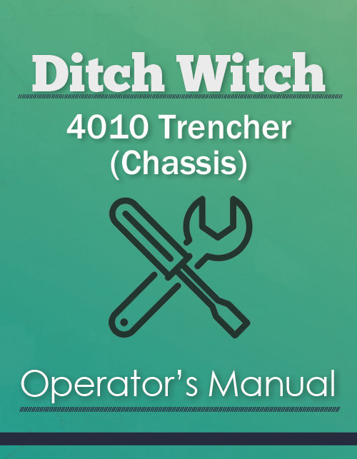 Ditch Witch 4010 Trencher (Chassis) Manual Cover