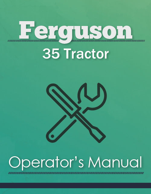 Ferguson 35 Tractor Manual Cover