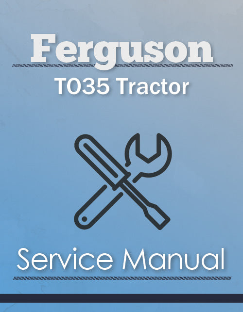 Ferguson TO35 Tractor - Service Manual Cover