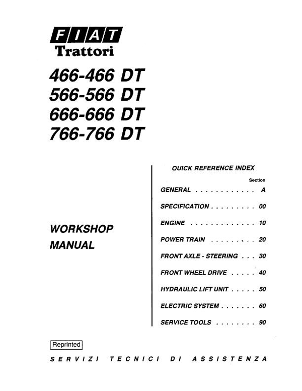 Fiat Hesston 466, 66, 666, 766 Tractor - Service Manual