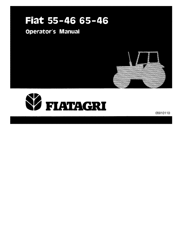 Fiat Hesston 55-46 and 65-46 Tractor Manual