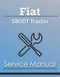 Fiat 580DT Tractor - Service Manual Cover