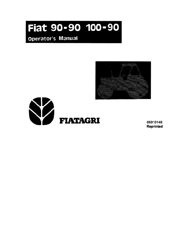 Fiat Hesston 100-90 and 90-90 Tractor Manual