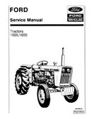 Ford 1000 and 1600 Tractors - Service Manual