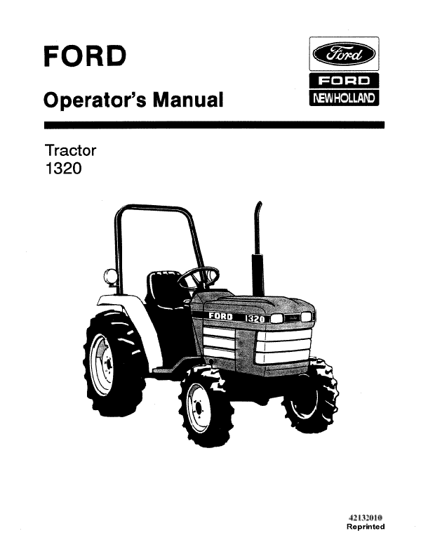 Ford 1320 Tractor Manual
