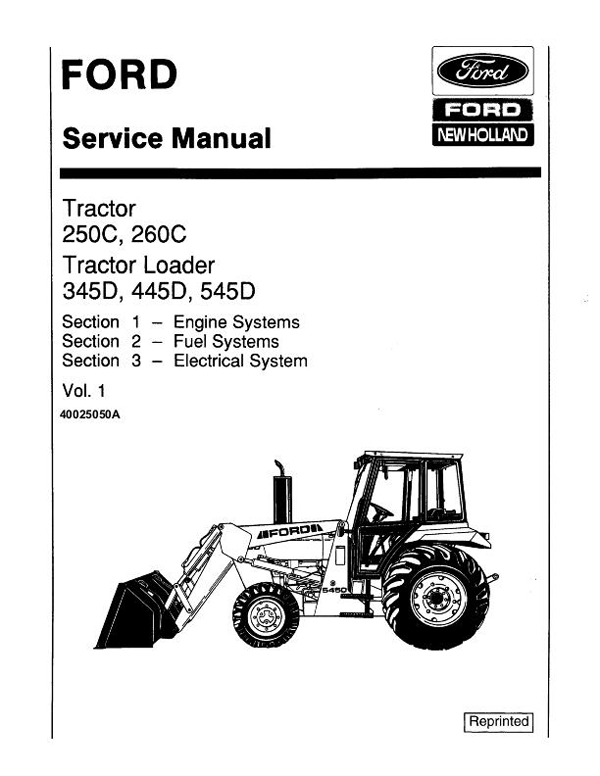 Ford 250C, 260C, 345D, 445D, 545D Tractor and Tractor