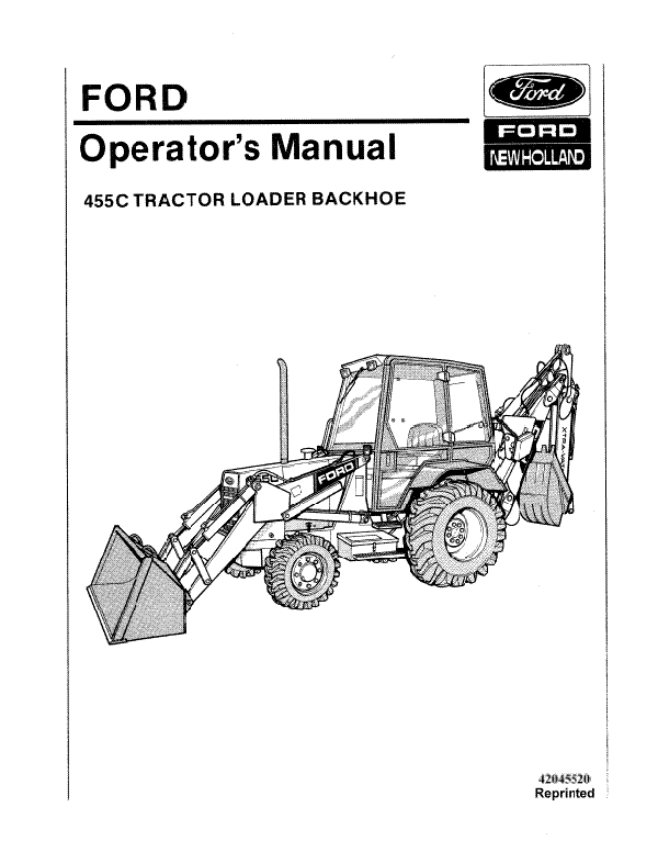 Ford 455C Tractor-Loader-Backhoe Manual