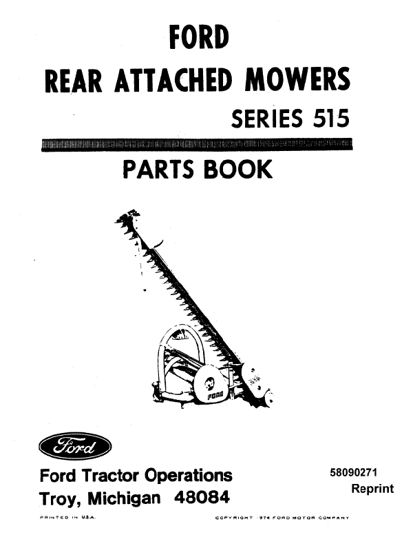 Ford 515 Mower - Parts Catalog
