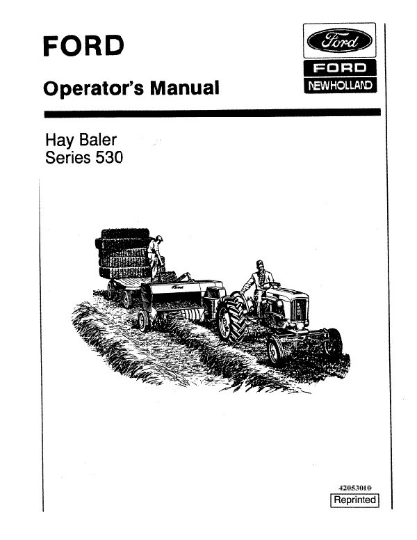 Ford 530 Hay Baler Manual