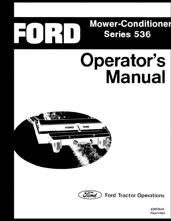 Ford 536 Mower Conditioner Manual