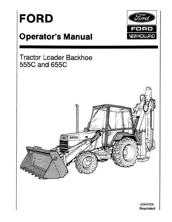 Ford 555C and 655C Tractor-Loader-Backhoe Manual
