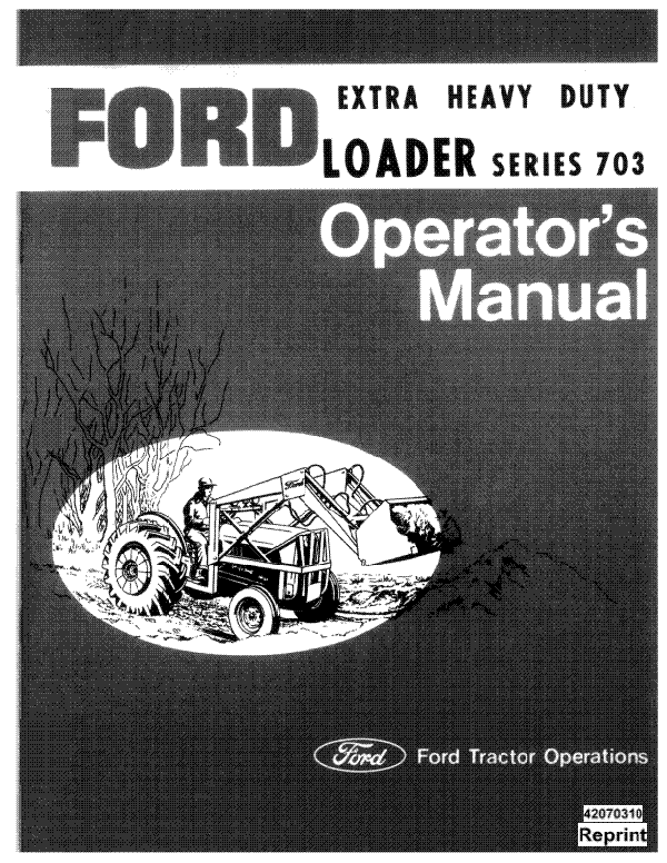 Ford 703 Series Loader Manual