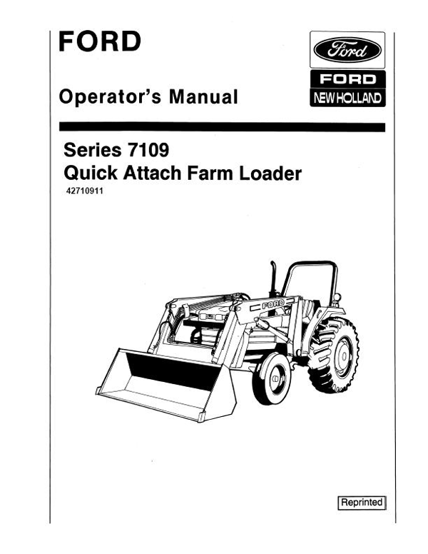 Ford 7109 Loader Manual