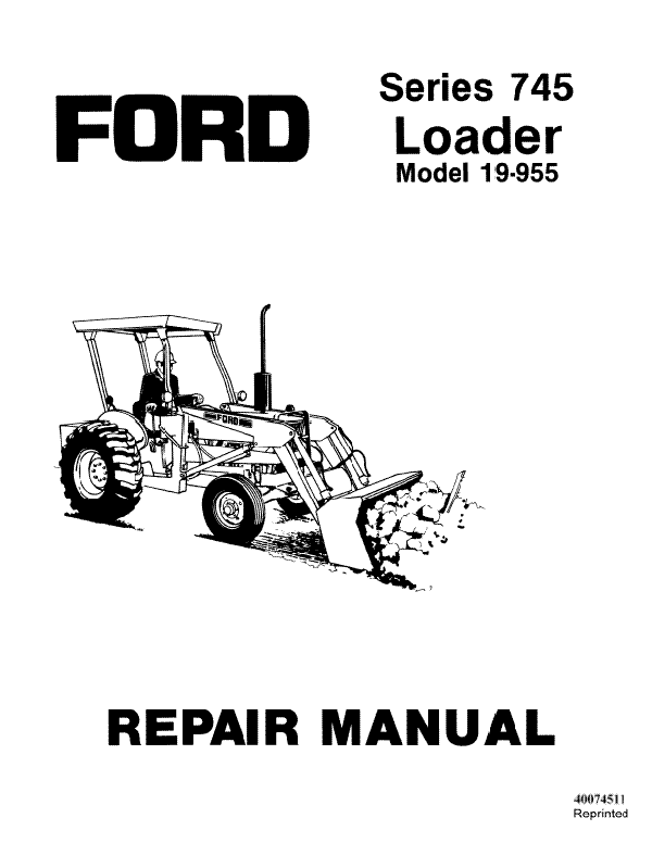 Ford 745 Series Model 19-955 Loader - Service Manual