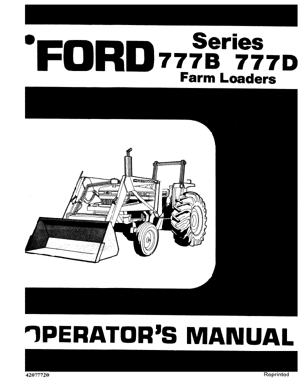 Ford 777B and 777D Loader Manual