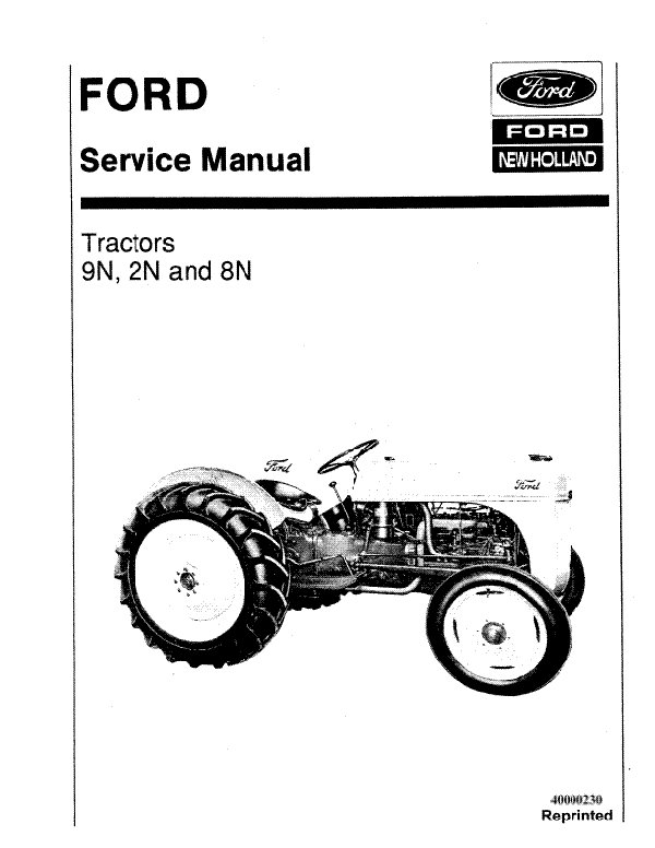 Ford 2N, 8N, and 9N Tractor - Service Manual