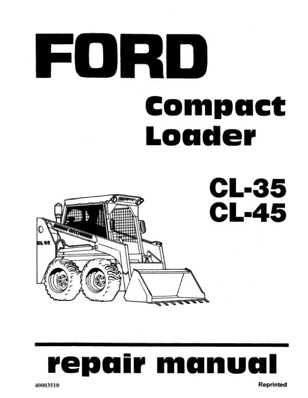 Ford CL-35 and CL-45 Skid-Steer - Service Manual
