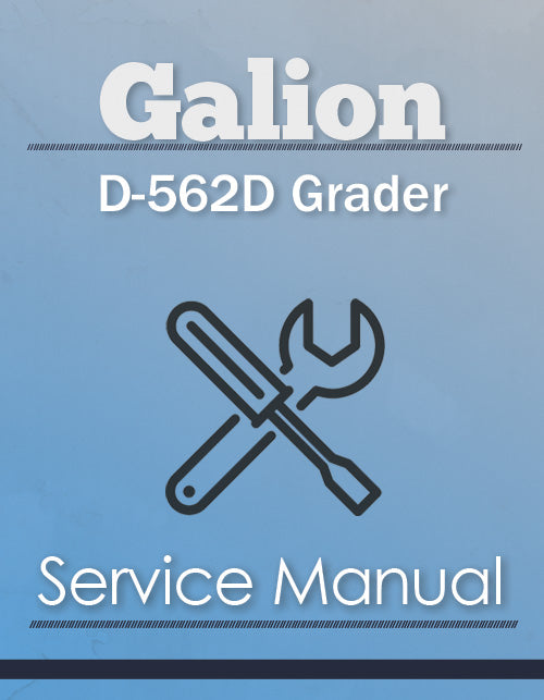 Galion D-562D Grader - Service Manual Cover