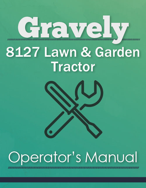 Gravely 8127 Lawn & Garden Tractor Manual Cover
