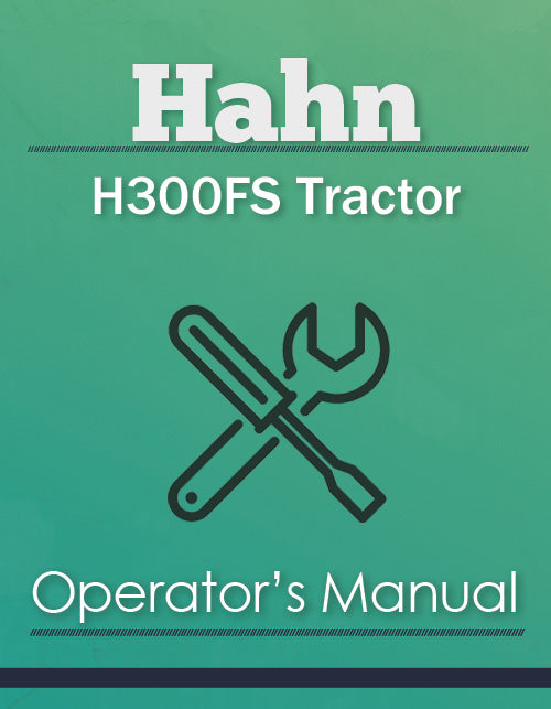 Hahn H300FS Tractor Manual Cover