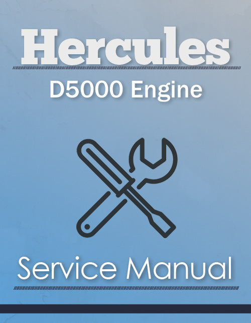Hercules D5000 Engine - Service Manual Cover