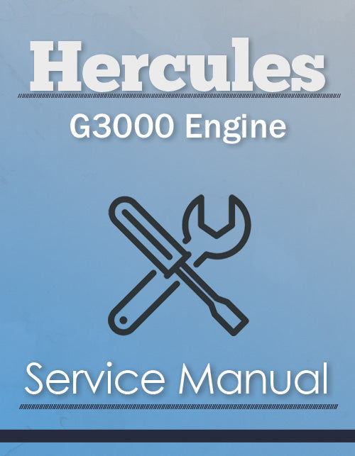 Hercules G3000 Engine - Service Manual Cover