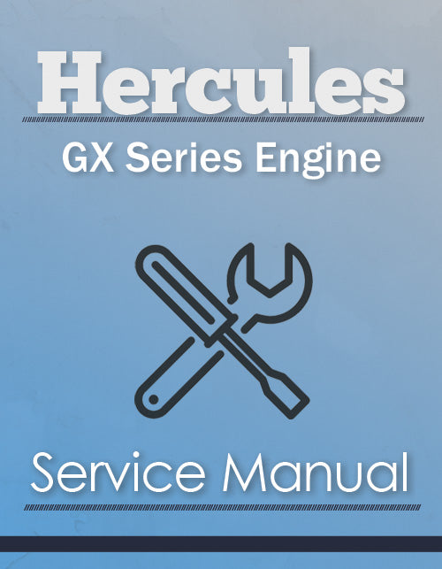 Hercules GX Series Engine - Service Manual Cover
