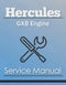 Hercules GXB Engine - Service Manual Cover
