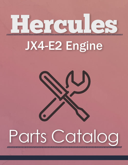 Hercules JX4-E2 Engine - Parts Catalog Cover