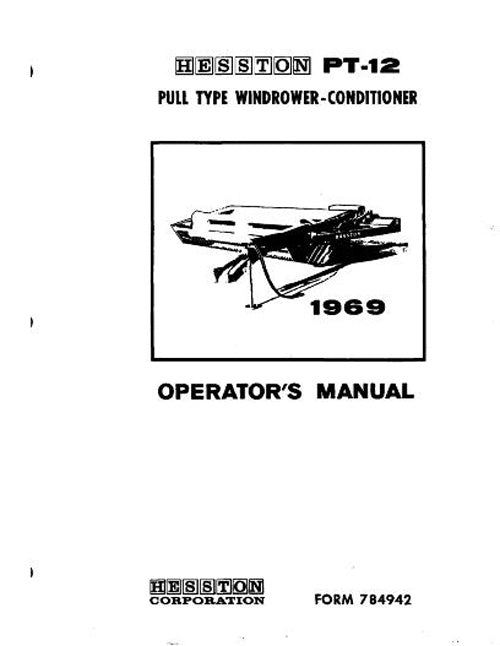 Hesston PT12 Mower/ Conditioner Manual
