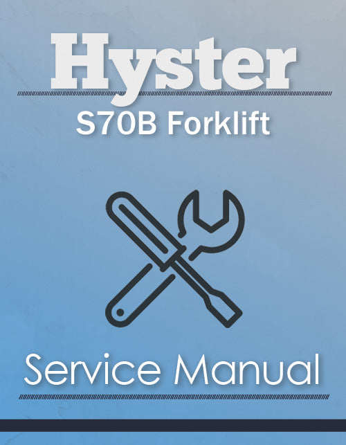 Hyster S70B Forklift - Service Manual Cover