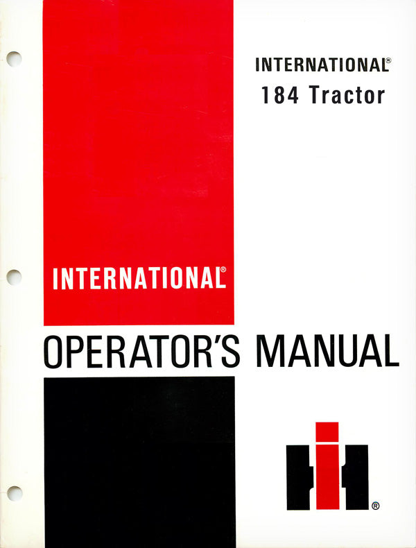 International 184 Tractor Manual