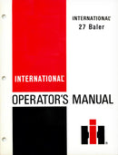 International 27 Baler Manual