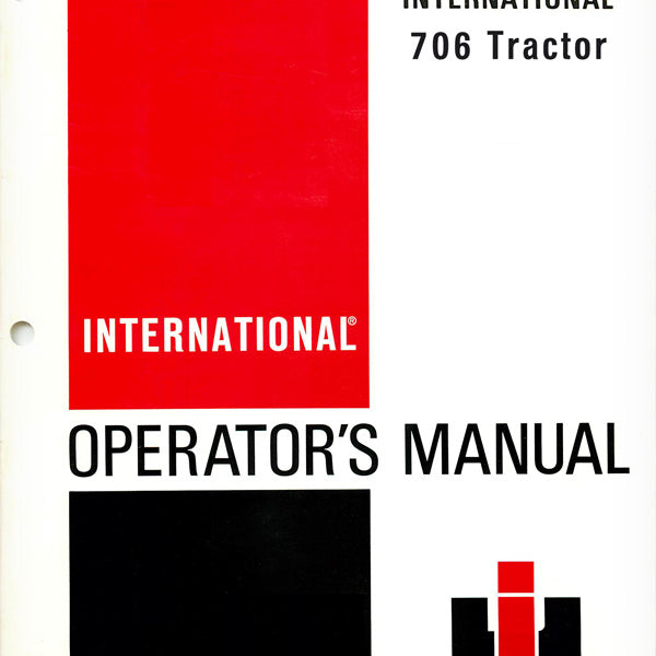 Farmall 706 Tractor Hitch and Hydraulics Service Manual ...