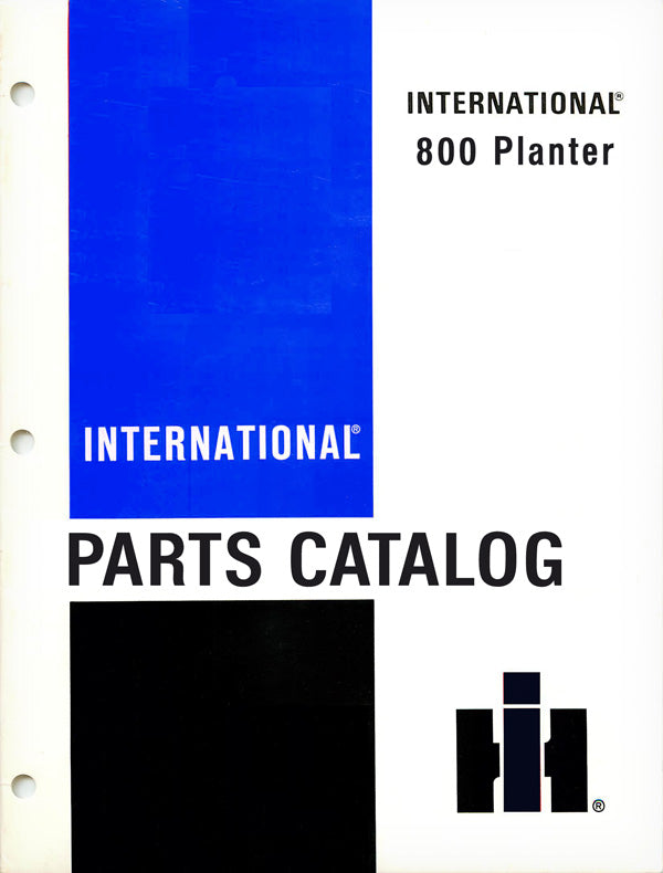 International 800 Planter - Parts Catalog