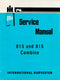 International 815 and 915 Combine - Service Manual