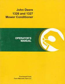 John Deere 1326 and 1327 Mower Conditioner Manual