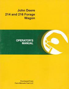 John Deere 214 and 216 Forage Wagon Manual