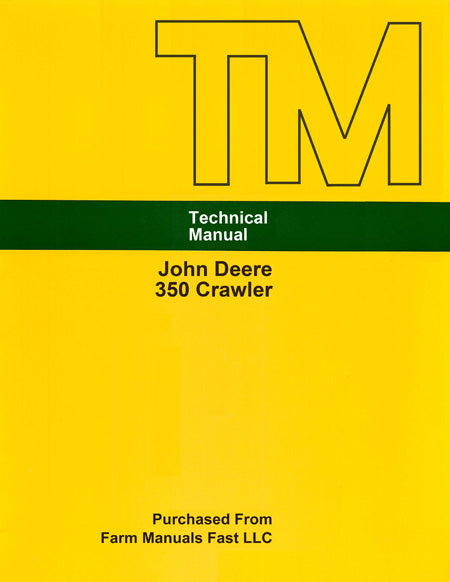 John Deere 350 Crawler - Service Manual