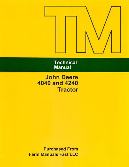 John Deere 4040 and 4240 Tractor - Service Manual