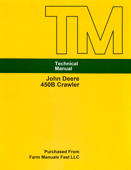 John Deere 450B Crawler - Service Manual