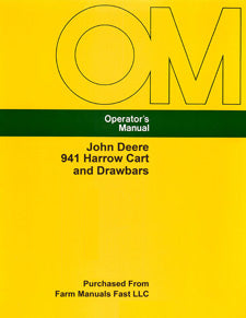 John Deere 941 Harrow Cart and Drawbars Manual