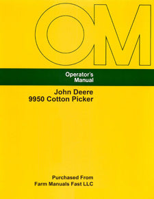 John Deere 9950 Cotton Picker Manual