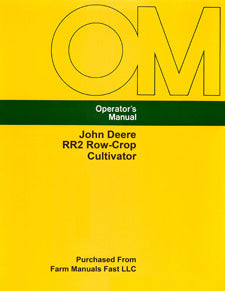 John Deere RR2 Row-Crop Cultivator Manual