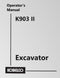 Kobelco K903 II Excavator Manual Cover
