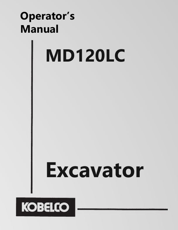 Kobelco MD120LC Excavator Manual Cover