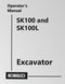 Kobelco SK100 and SK100L Excavator Manual Cover