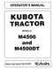 Kubota M4500 and M4500DT Tractor Manual