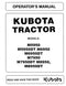 Kubota M5950, M5950DT, M6950, M6950DT, M7950, M7950DT, M8950, and M8950DT Tractor Manual
